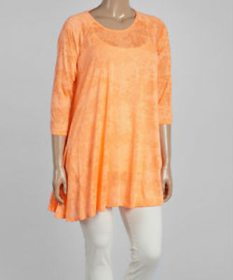 Burn Out Orange Tunic